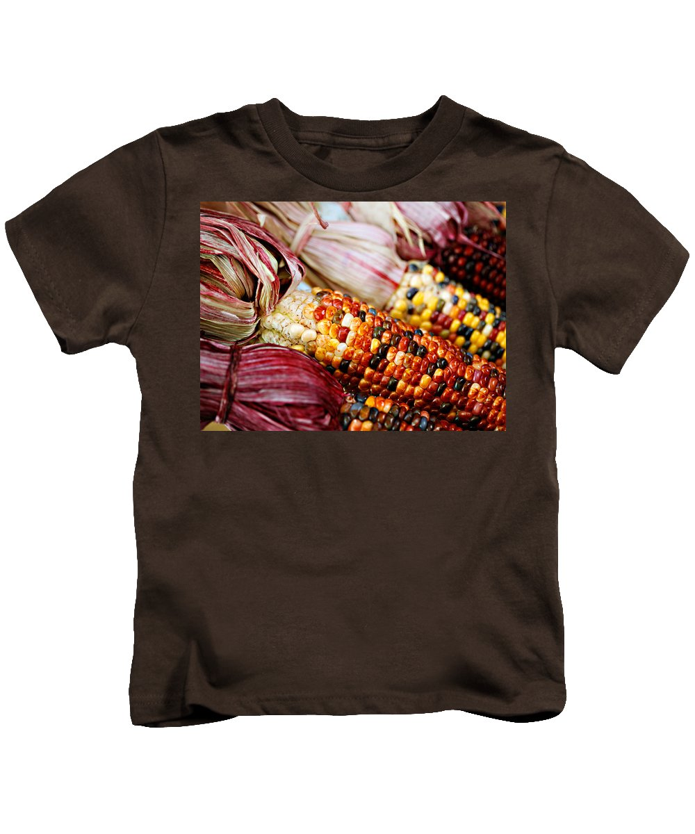 Corn Kids T-Shirt featuring the photograph Indian Corn by Marilyn Hunt