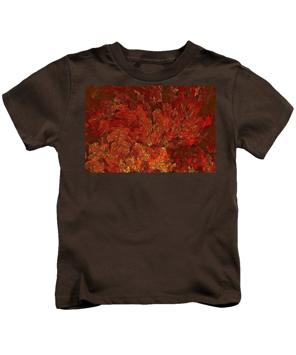 Conflagration Kids T-Shirt featuring the digital art Inferno-3 by Doug Morgan