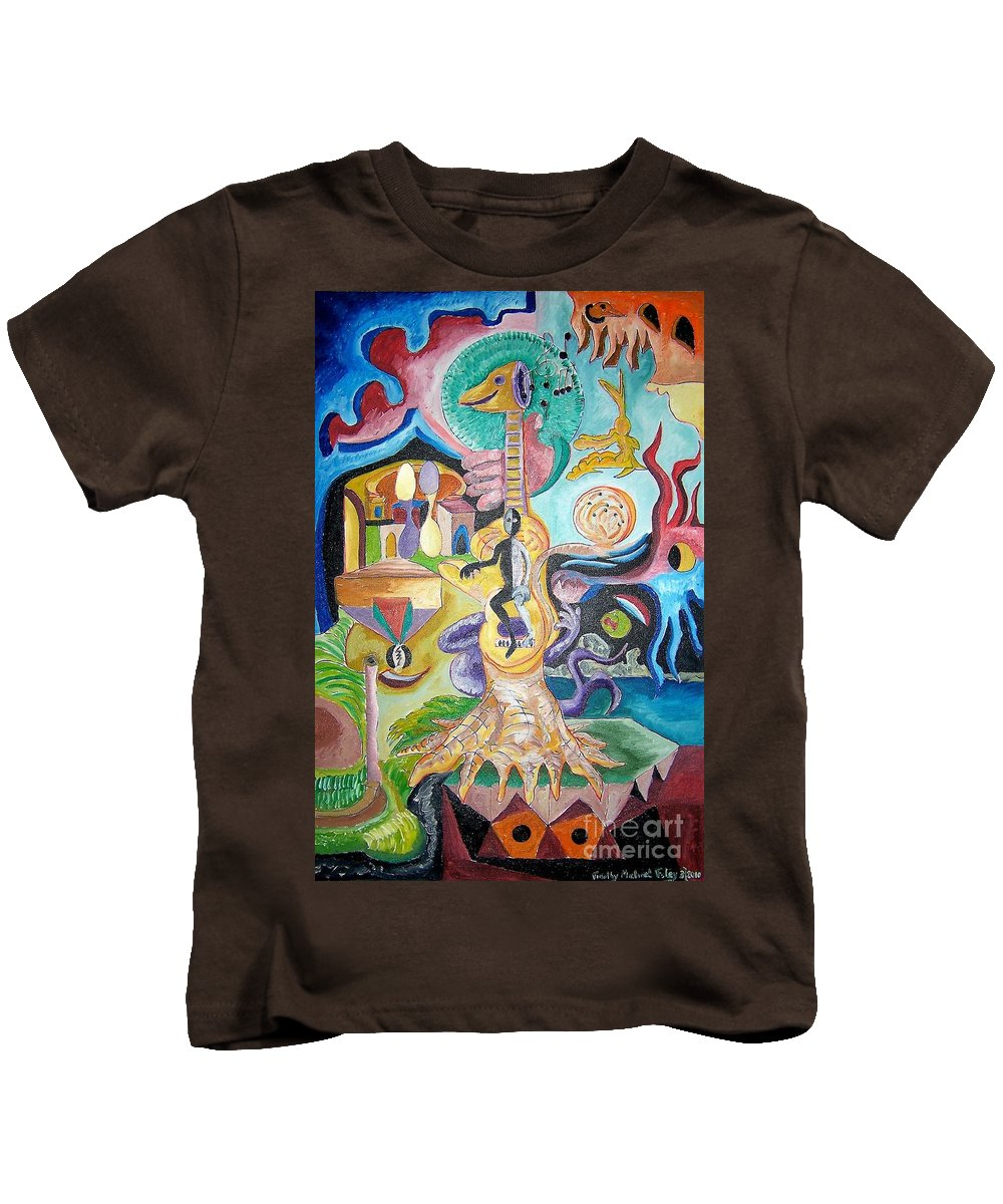 Surrealism Kids T-Shirt featuring the painting Instrumental Duties by Timothy Michael Foley