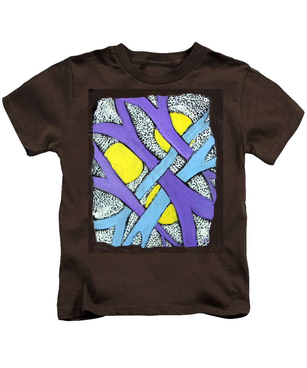 Abstract Kids T-Shirt featuring the painting Intertwined by Wayne Potrafka