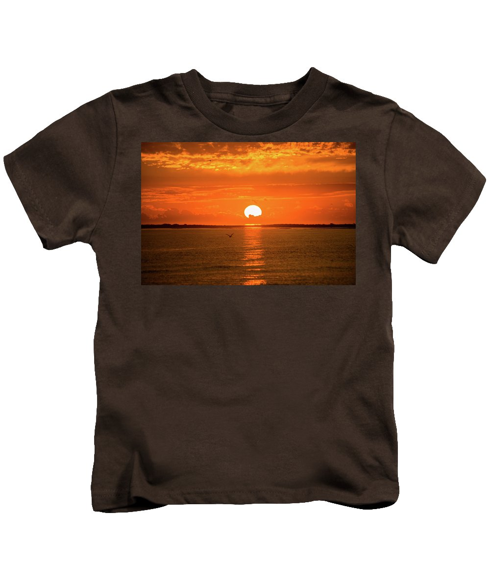 Outer Banks Kids T-Shirt featuring the photograph Island Of The Sun by Paula OMalley