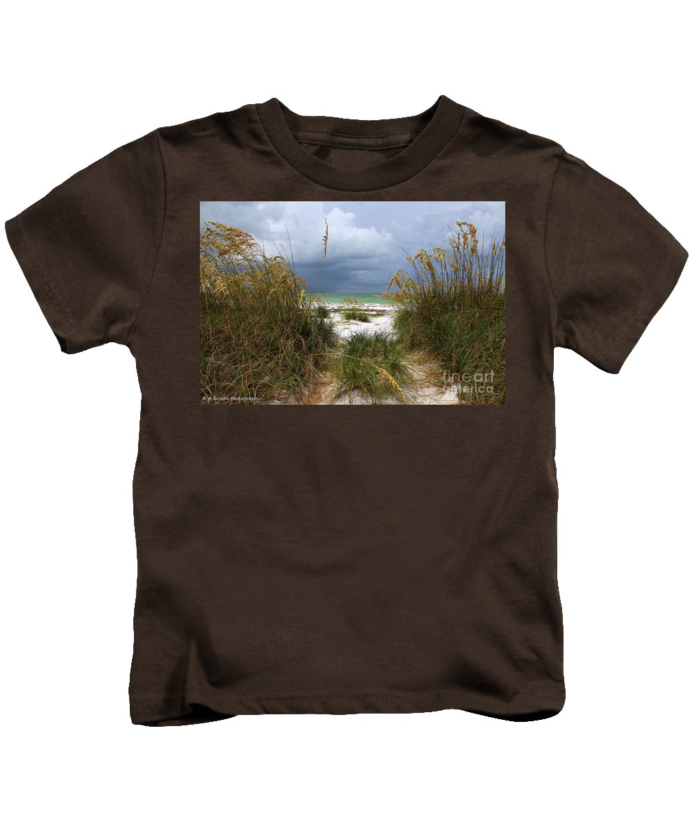 Beach Kids T-Shirt featuring the photograph Island Trail Out To The Beach by Barbara Bowen