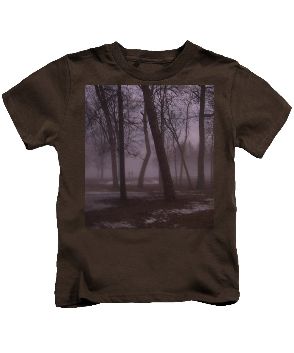 January Kids T-Shirt featuring the photograph January Fog 1 by Anita Burgermeister