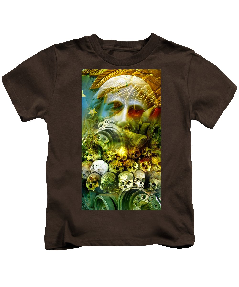 Jesus Kids T-Shirt featuring the photograph Jesus Wept by Skip Hunt