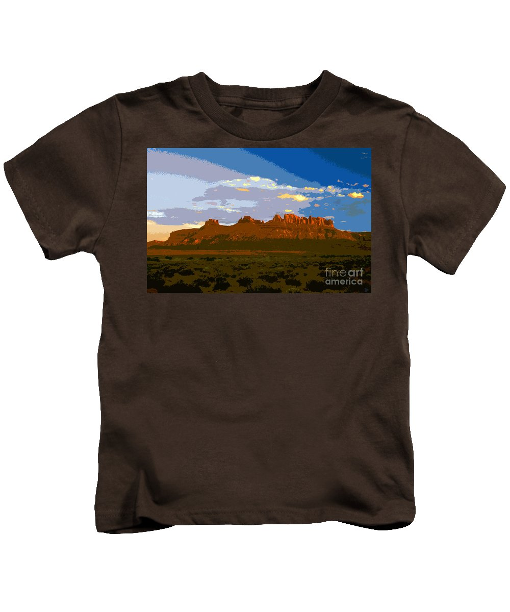 Landscape Kids T-Shirt featuring the painting John Wayne Country by David Lee Thompson