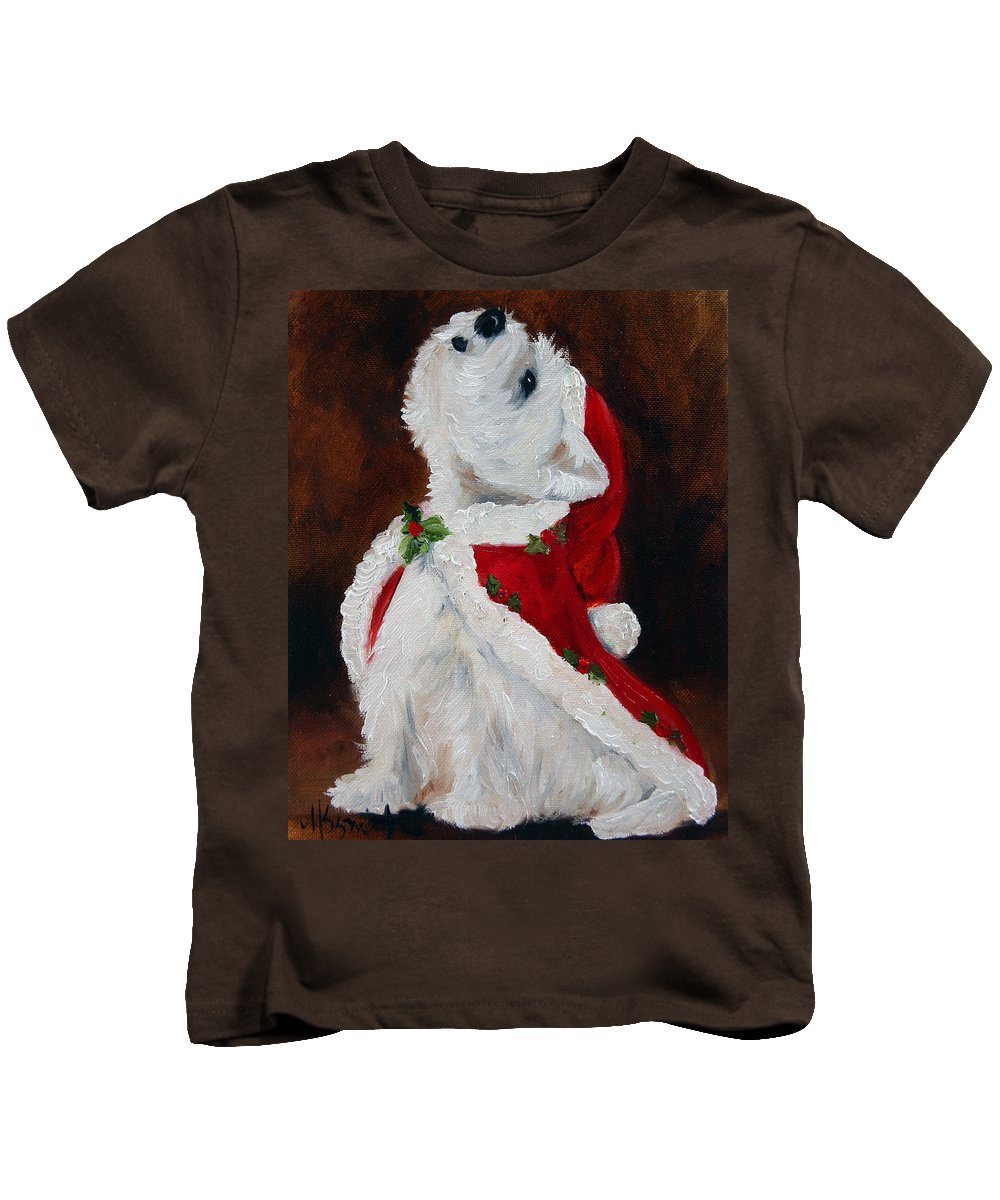 Art Kids T-Shirt featuring the painting Joy To The World by Mary Sparrow