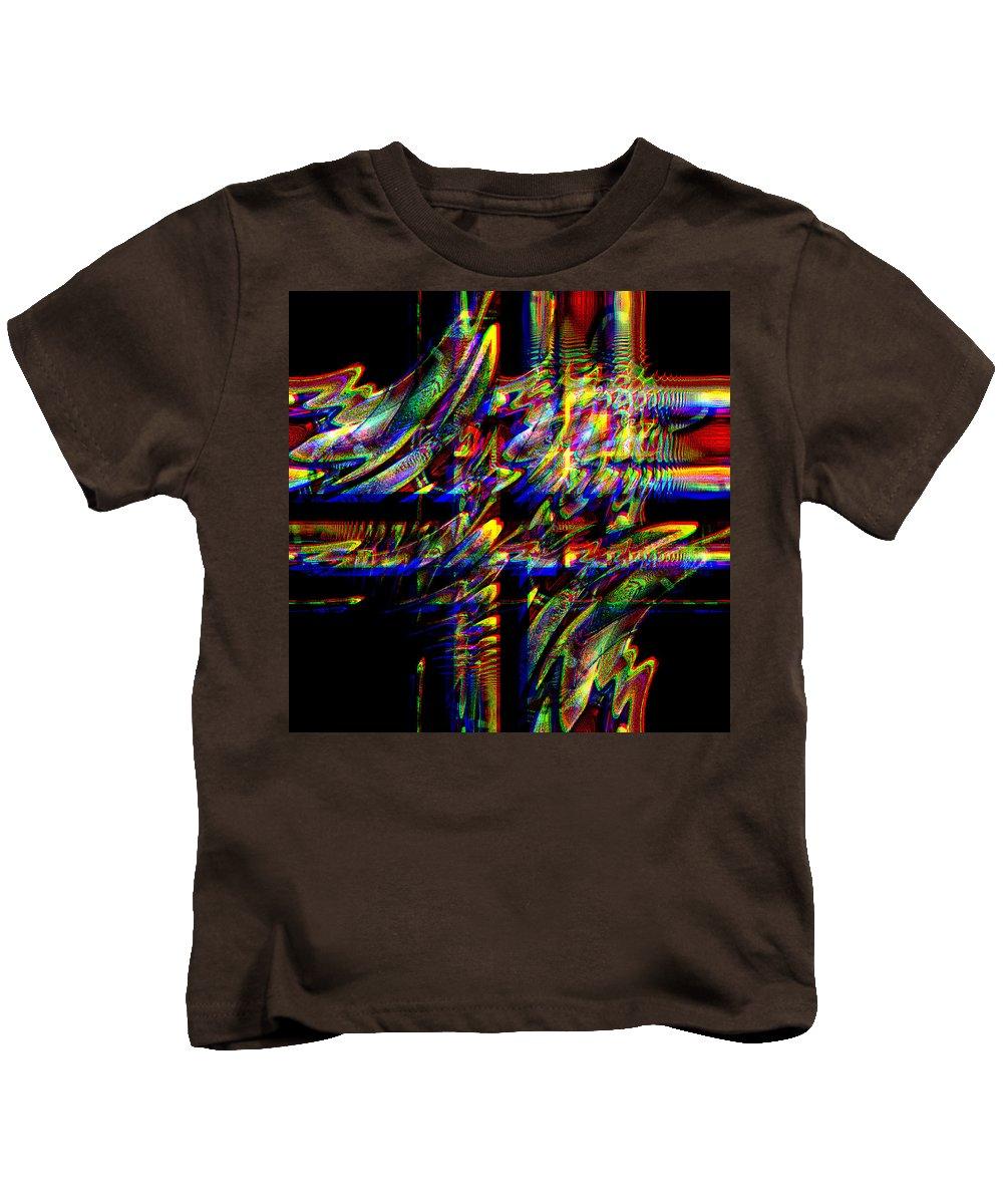 Abstract Kids T-Shirt featuring the digital art Jude by Blind Ape Art