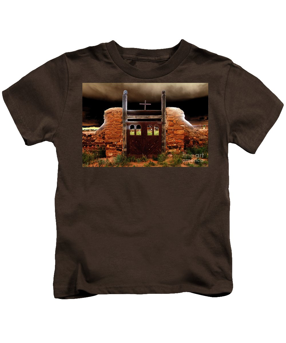 Art Kids T-Shirt featuring the painting Judgement Day by David Lee Thompson