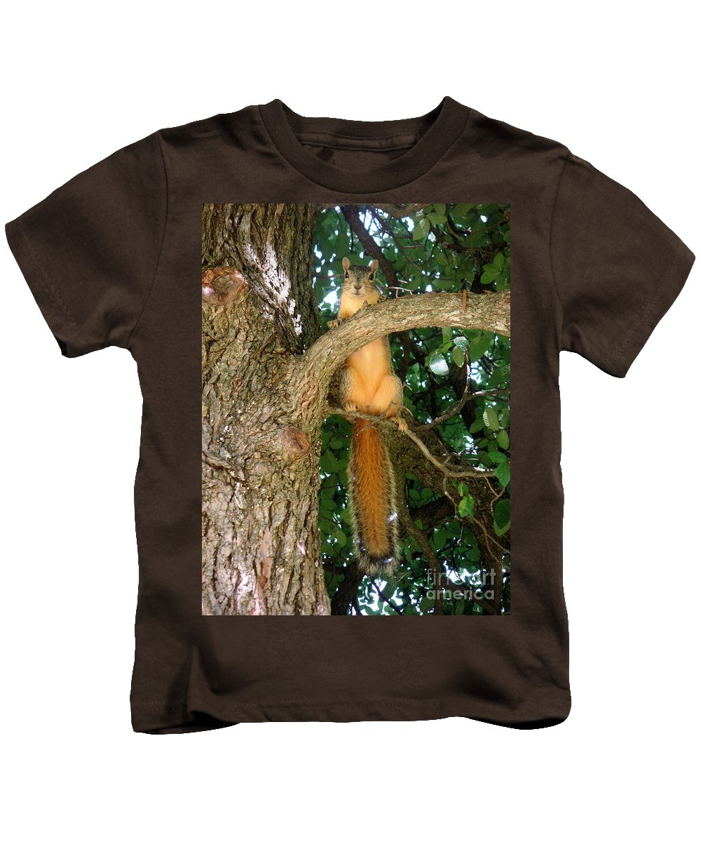 Nature Kids T-Shirt featuring the photograph Just Hanging Around by Lucyna A M Green