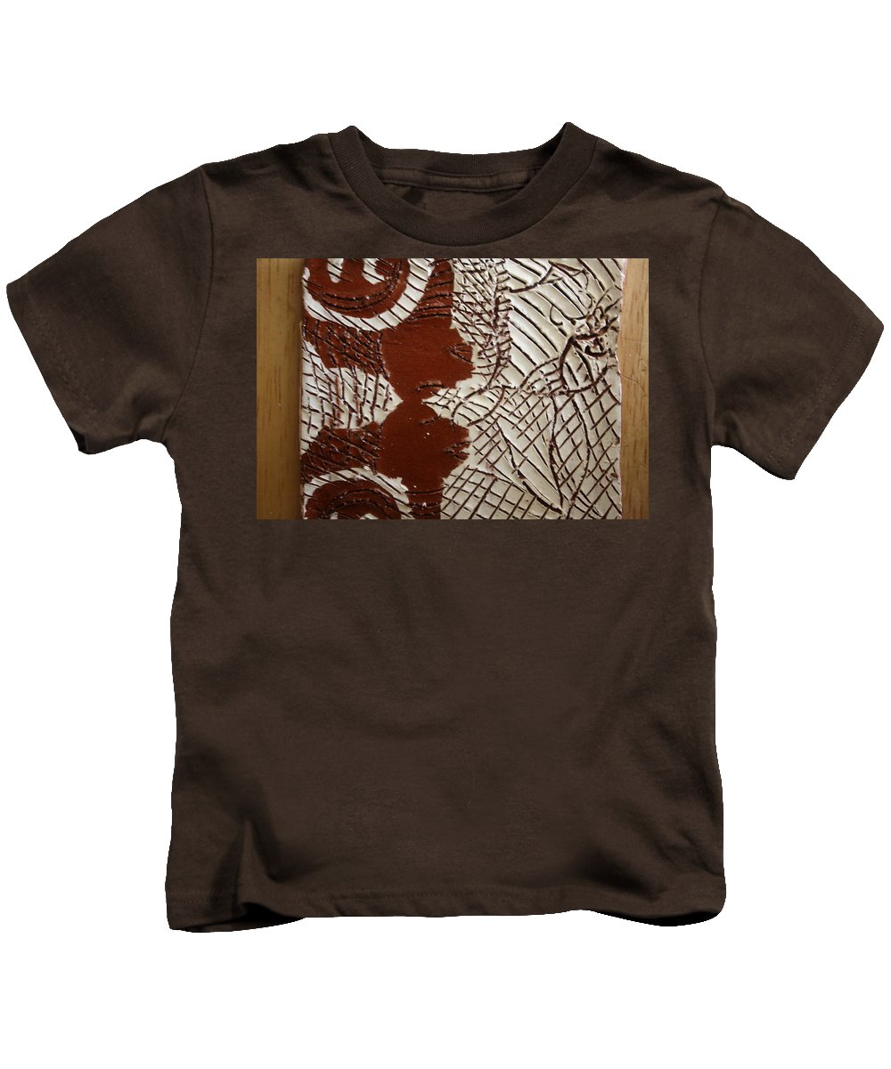 Jesus Kids T-Shirt featuring the ceramic art Just Relax - Tile by Gloria Ssali