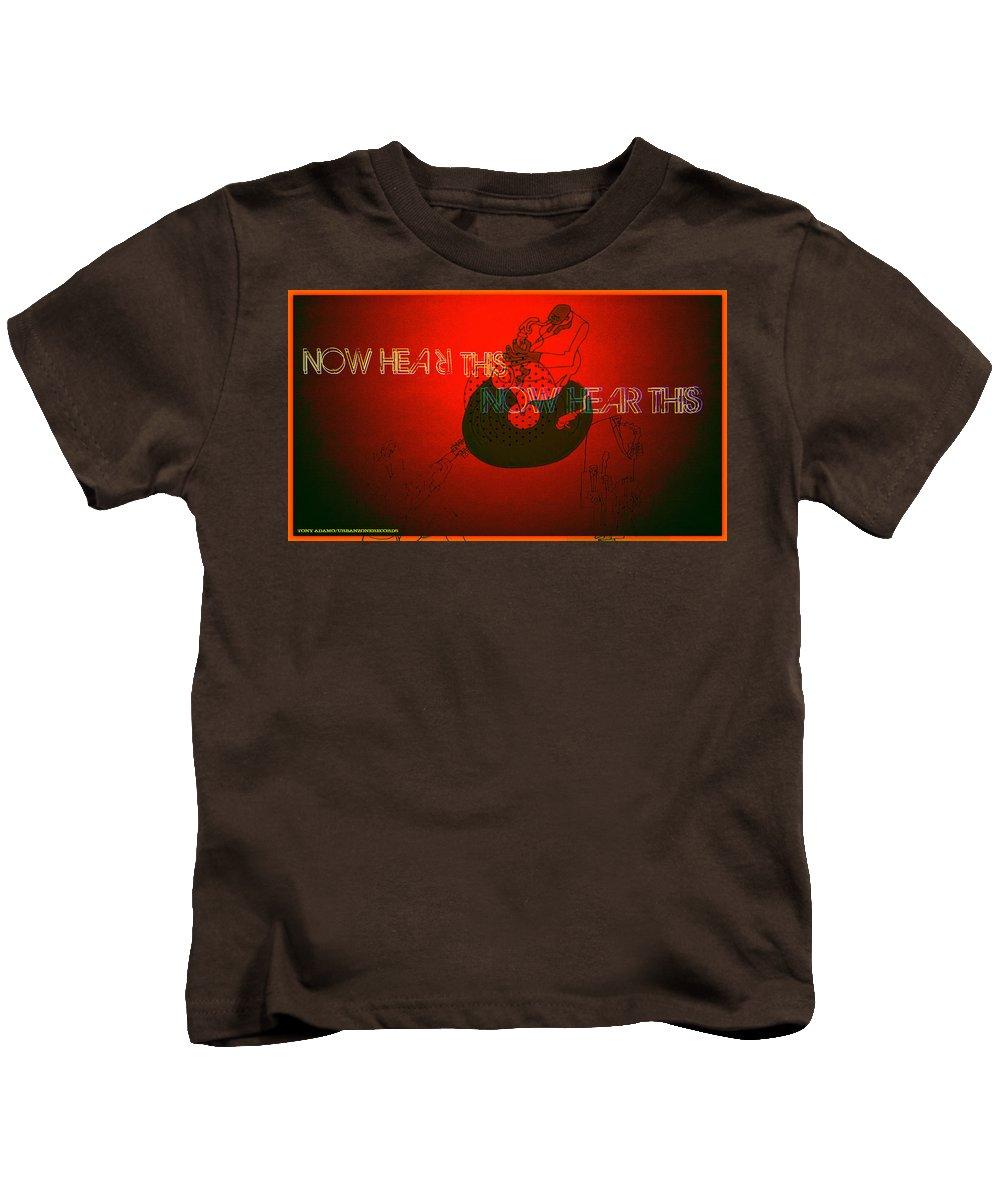 Justice For Jazz Artists Kids T-Shirt featuring the digital art Justice For Jazz Artists by Tony Adamo