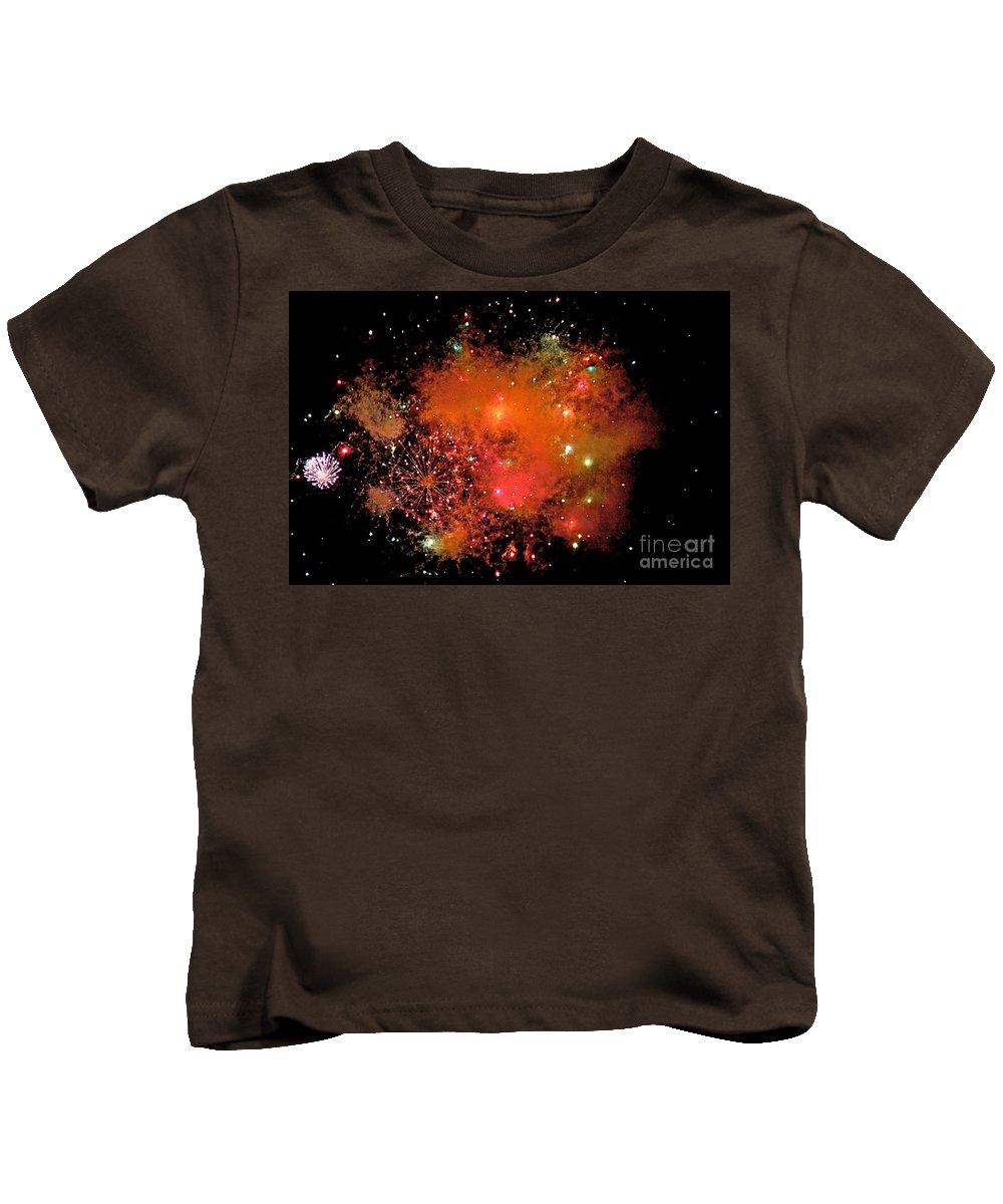 Fire Works Kids T-Shirt featuring the photograph Ka Boom by Robert Pearson