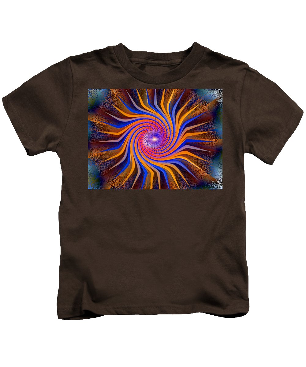 Ki Art Kids T-Shirt featuring the digital art Ki Series. 213 V by Oscar Basurto Carbonell