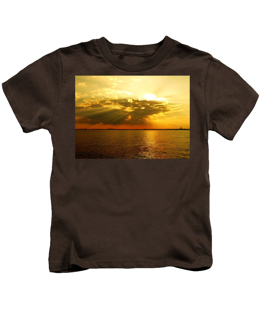 Gold Kids T-Shirt featuring the photograph Knocking On Heaven's Door by Kendall Eutemey