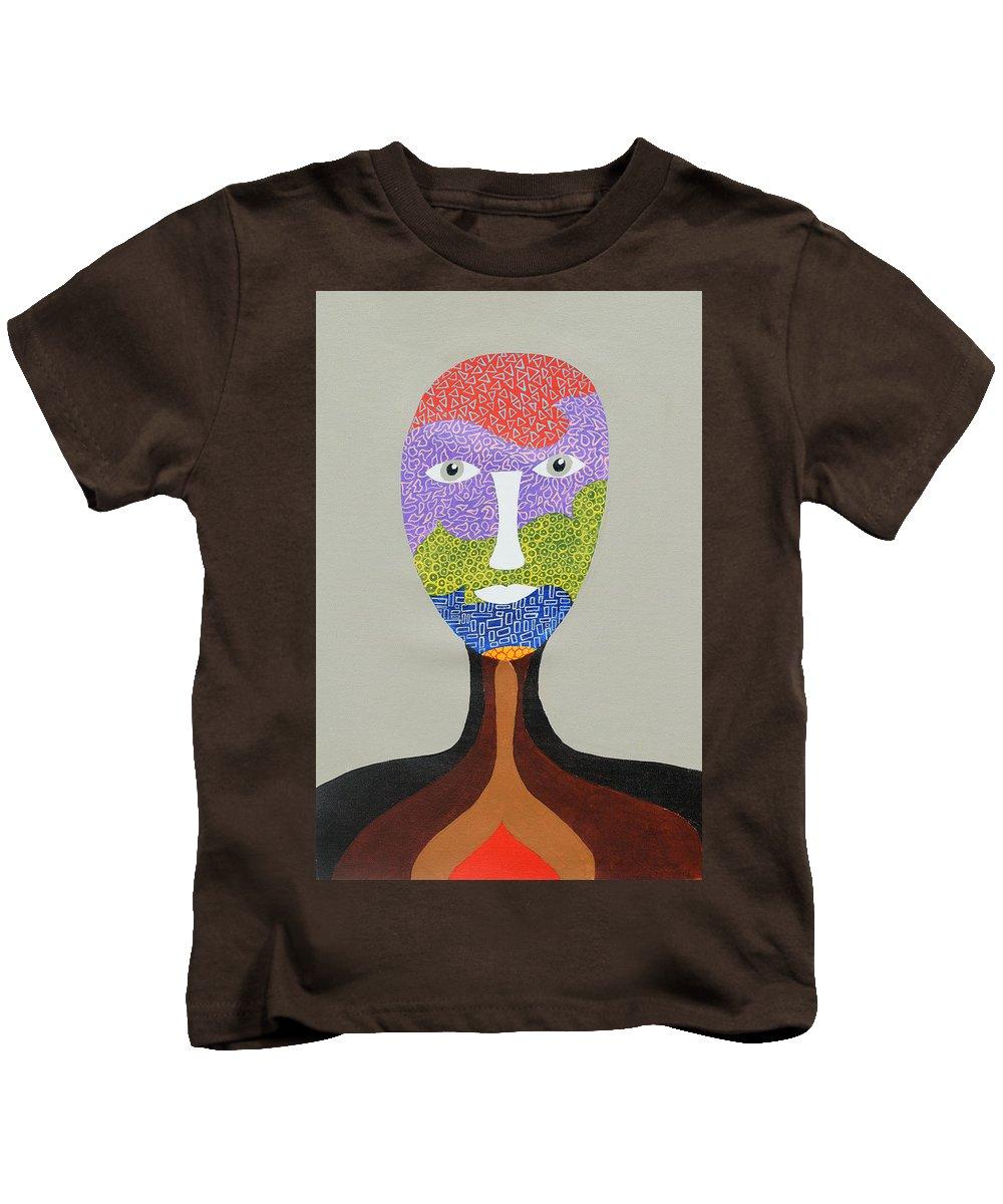 Portrait Kids T-Shirt featuring the painting Kyliv by Sumit Mehndiratta