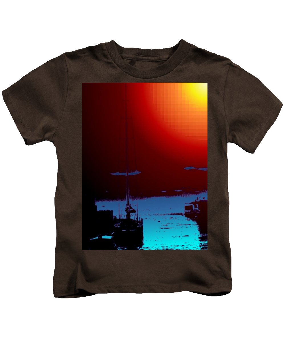 Seattle Kids T-Shirt featuring the photograph Lake Union Moorage by Tim Allen