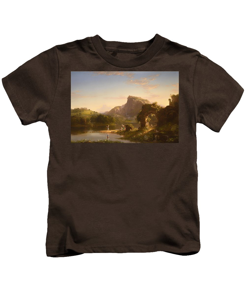Painting Kids T-Shirt featuring the painting L'allegro by Mountain Dreams