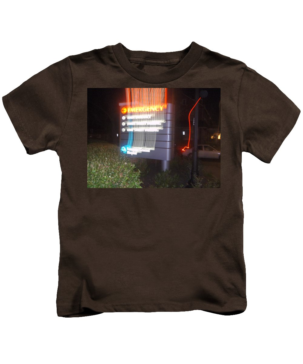 Photograph Kids T-Shirt featuring the photograph Lancaster Genral Emergency Room by Thomas Valentine