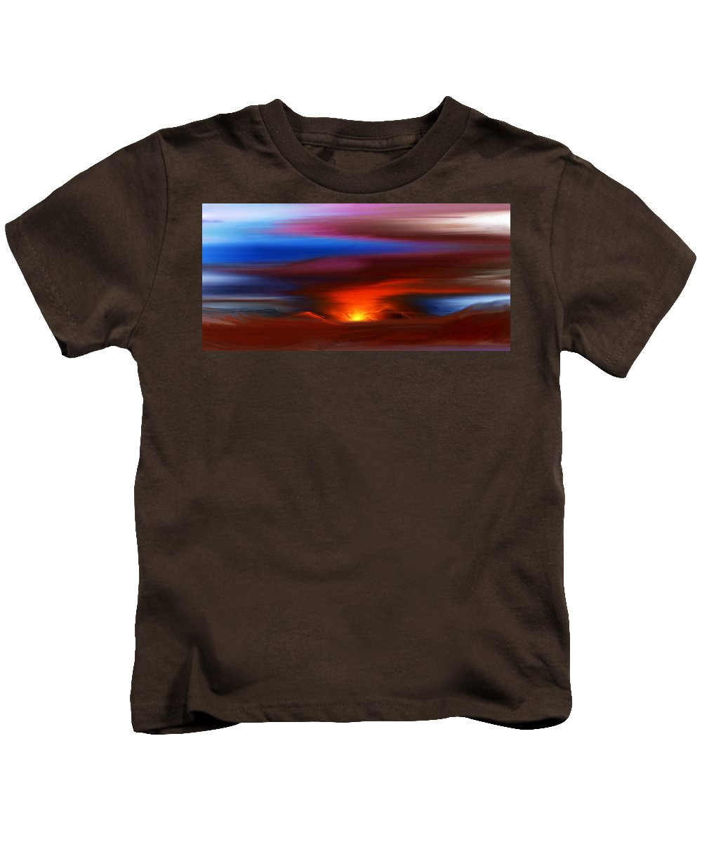 Landscape Kids T-Shirt featuring the digital art Landscape 081010 by David Lane