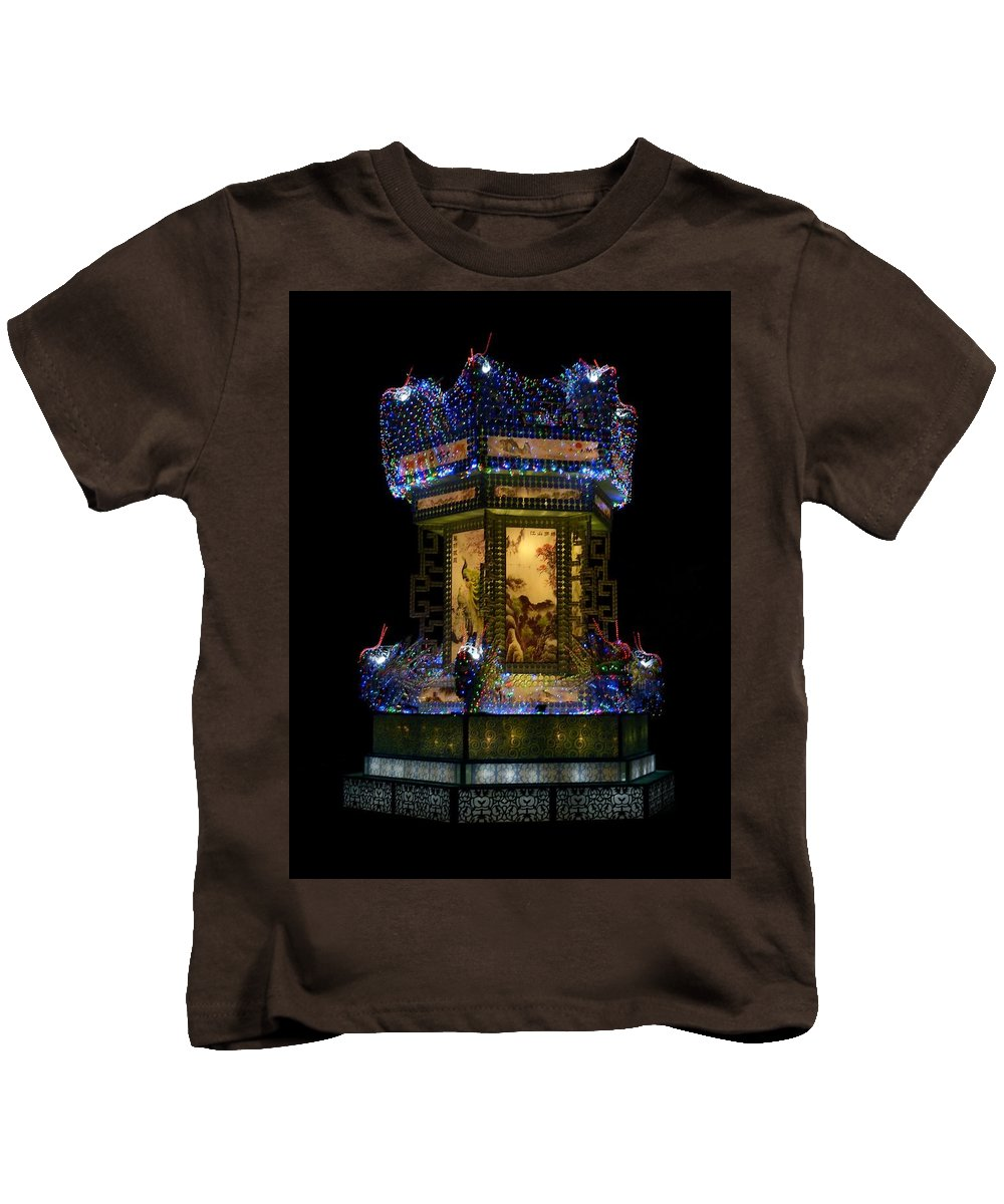 Kids T-Shirt featuring the photograph Lantern In The Dark by Nigel J Spanton