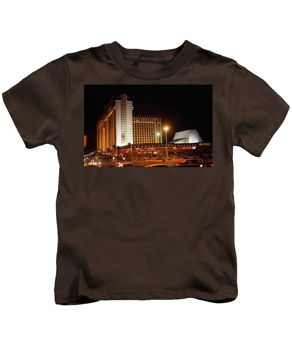 America Kids T-Shirt featuring the photograph Las Vegas 1980 #11 by Frank Romeo