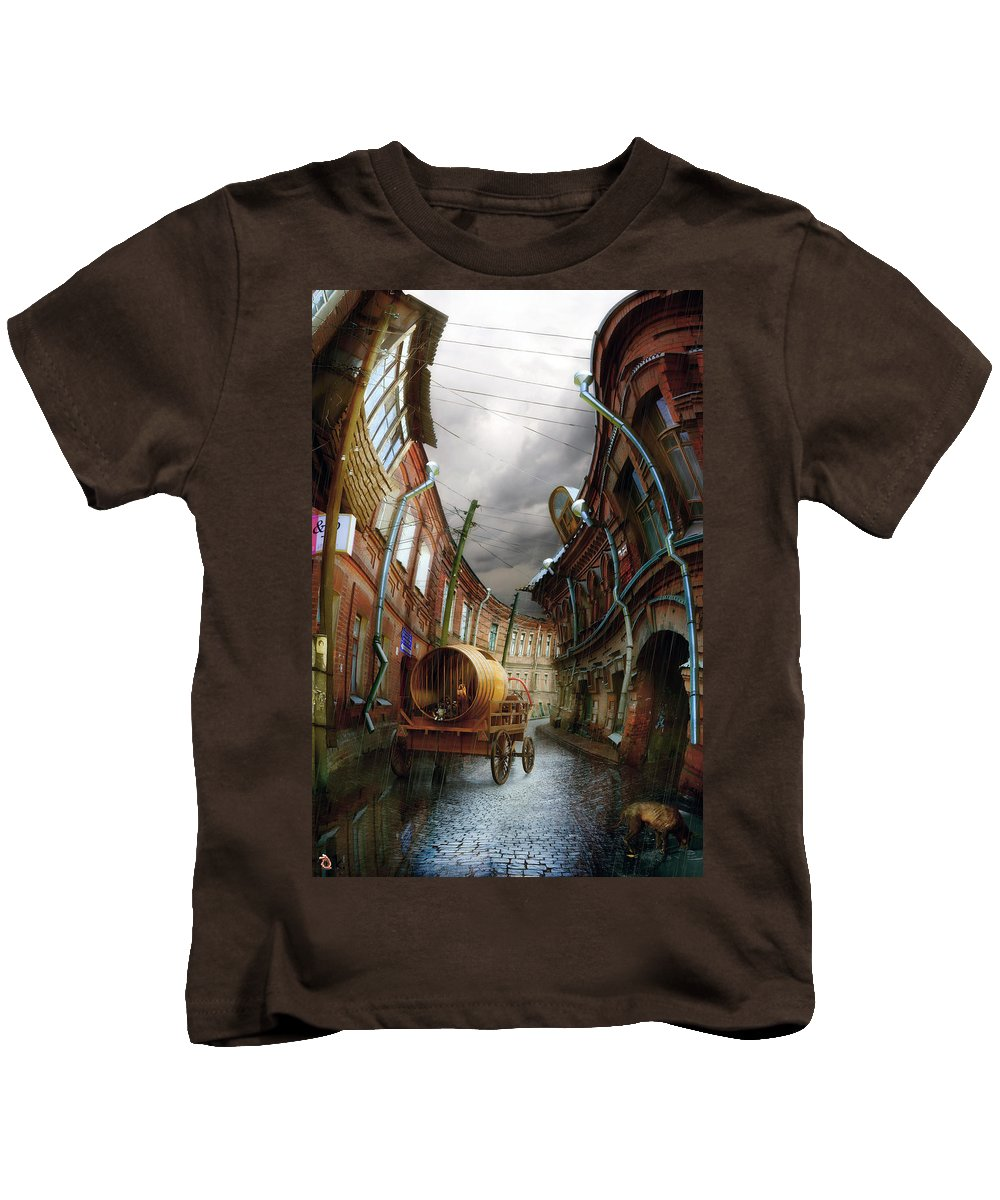 Old Sity Kids T-Shirt featuring the digital art The Last Vagrant by Alexander Kruglov