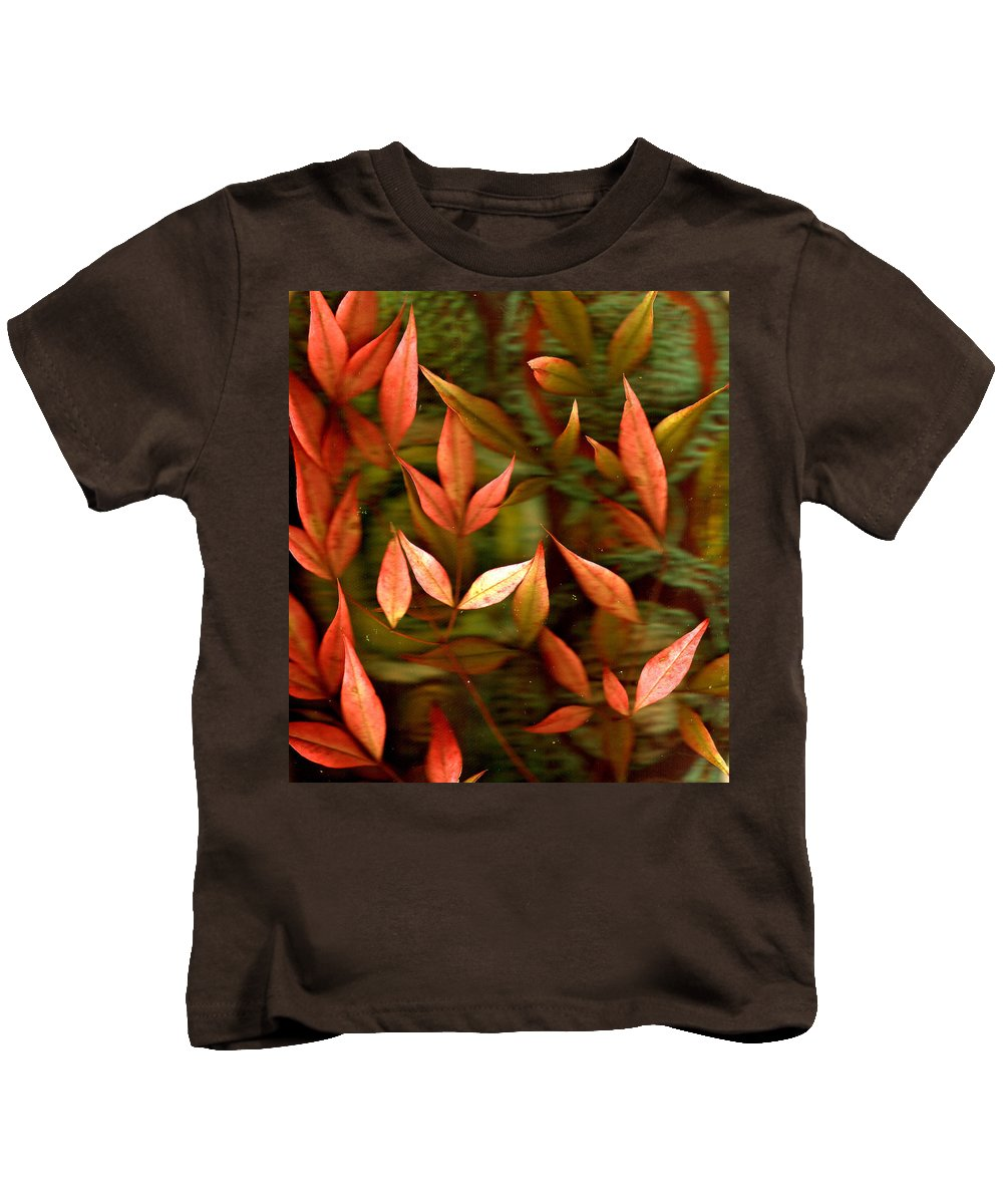Leaves Kids T-Shirt featuring the photograph Leaf Collage Photo by Wayne Potrafka