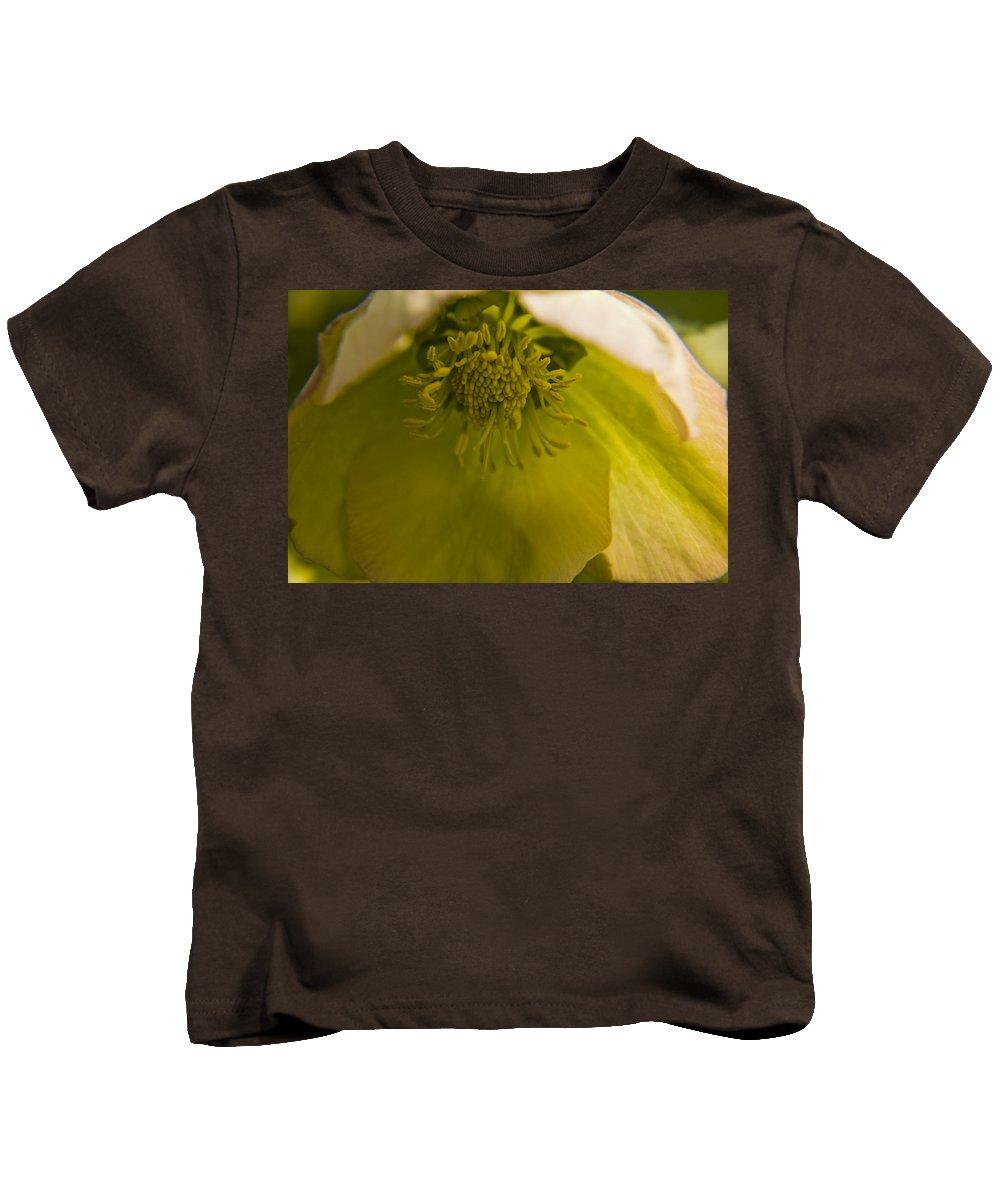 Flower Kids T-Shirt featuring the photograph Lenten Rose Interior by Teresa Mucha