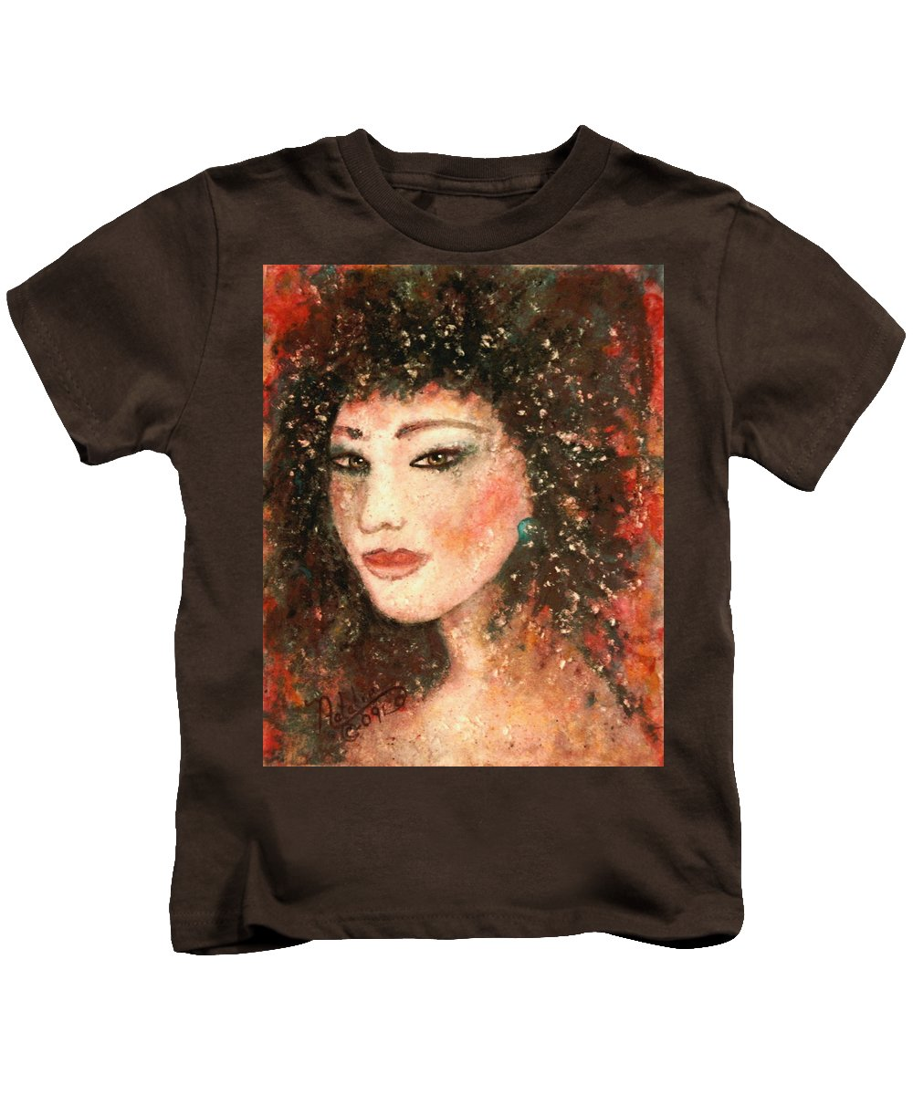 Asian Woman Kids T-Shirt featuring the painting Li Lin Lin Lian by Natalie Holland