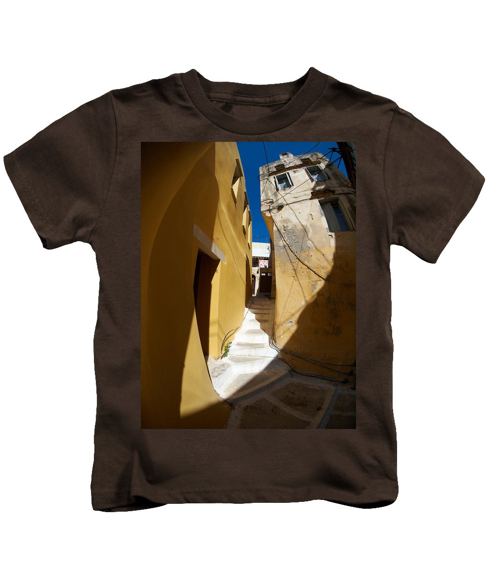 Architecture Kids T-Shirt featuring the photograph Light And Shadow by Jouko Lehto