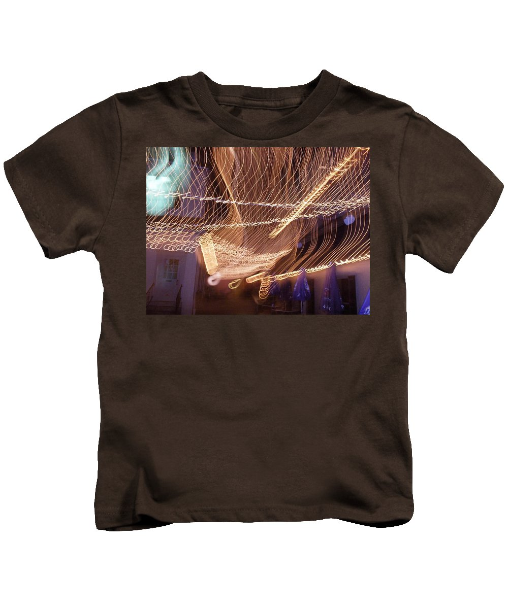 Photograph Kids T-Shirt featuring the photograph Lights That Dance Together by Thomas Valentine