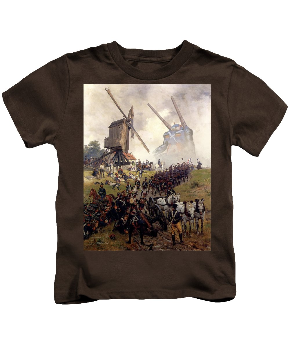 Scifi Kids T-Shirt featuring the digital art Ligny by Andrea Gatti