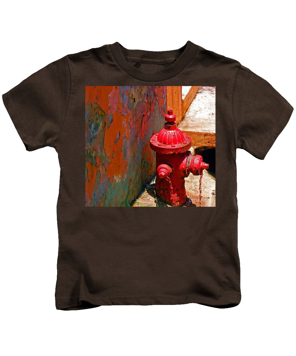 Red Kids T-Shirt featuring the photograph Lil Red by Debbi Granruth