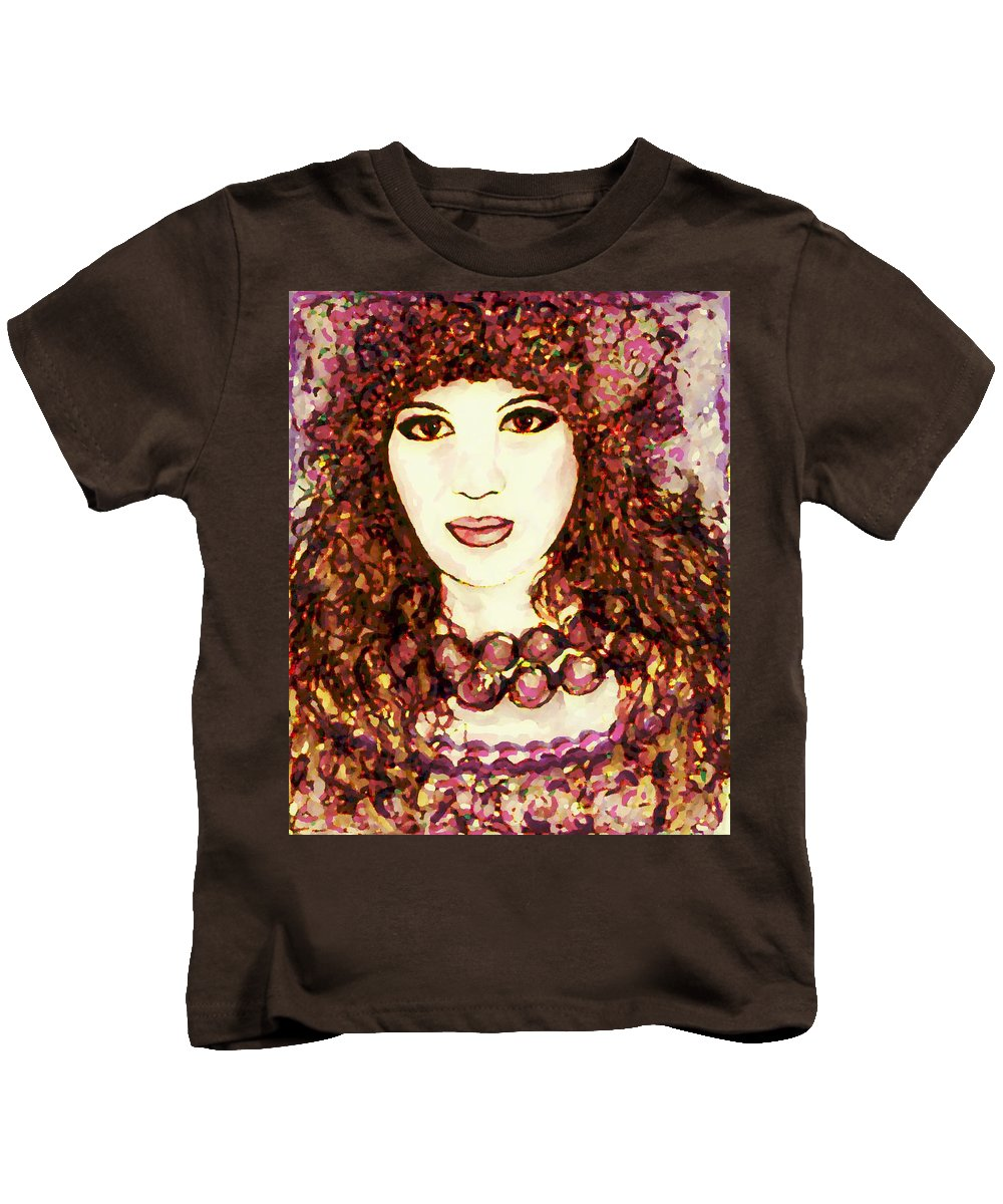 Woman Kids T-Shirt featuring the painting Lilac by Natalie Holland