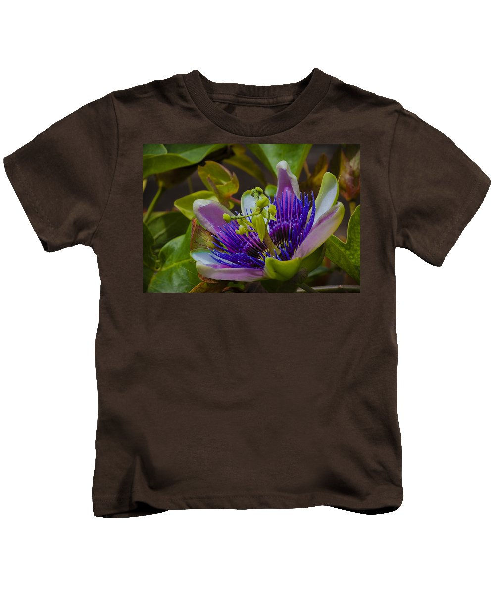 Passion Flower Kids T-Shirt featuring the photograph Listening To Deep Space by Dennis Reagan