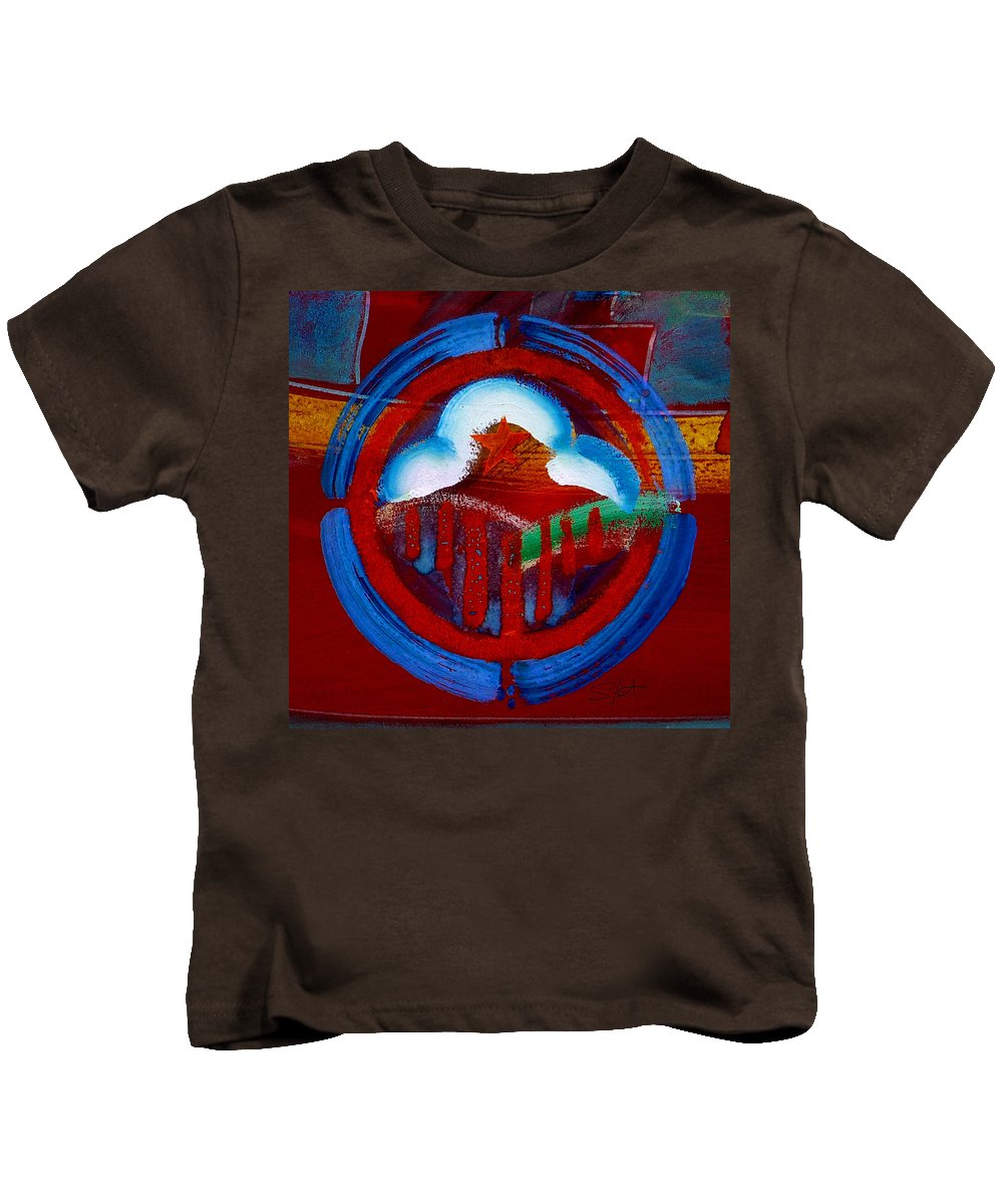 Star Kids T-Shirt featuring the painting Lone Star State by Charles Stuart
