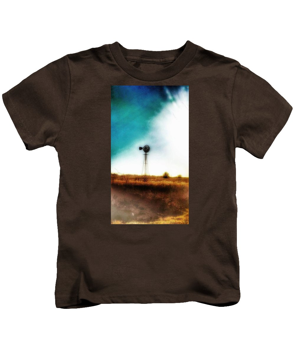 Photography Kids T-Shirt featuring the photograph Lonely Skies by Tim Clark