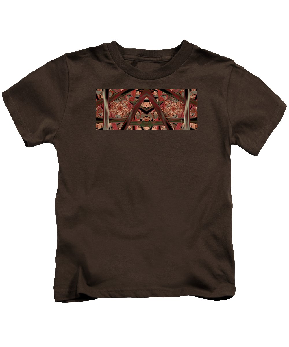 Abstract Kids T-Shirt featuring the digital art Look Within - Abstract by Georgiana Romanovna