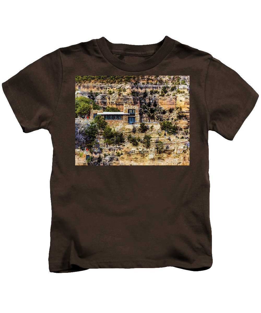 Arizona Kids T-Shirt featuring the photograph Lookout Studio @ Grand Canyon by Daniel Shumny