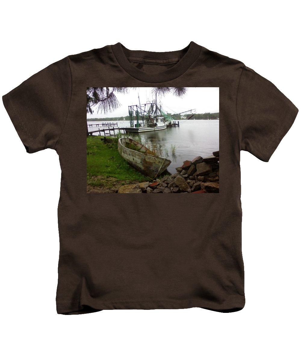 Boat Kids T-Shirt featuring the photograph Lost Boat by Patricia Caldwell