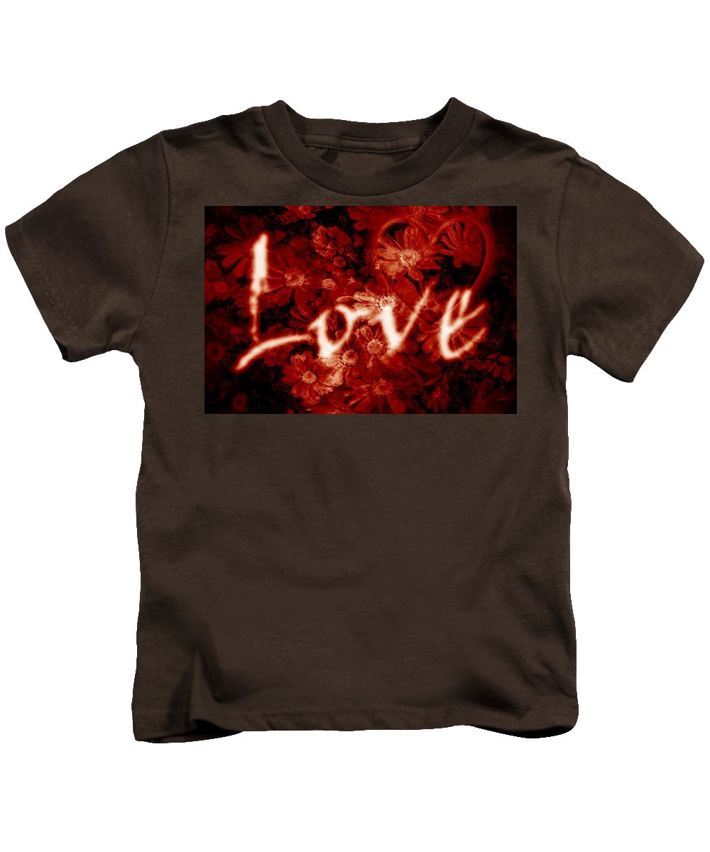 Love Kids T-Shirt featuring the photograph Love With Flowers by Phill Petrovic