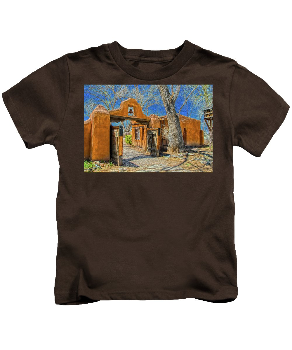 Mabel Kids T-Shirt featuring the photograph Mabel's Gate by Charles Muhle