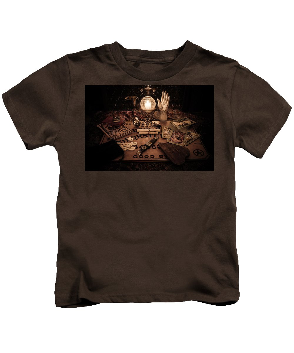 Ouija Kids T-Shirt featuring the photograph Magic by Kristy Creighton
