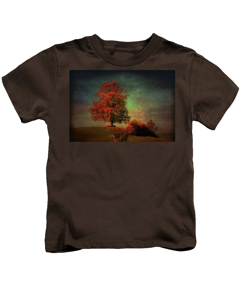 Linden Kids T-Shirt featuring the photograph Majestic Linden Berry Tree by Susanne Van Hulst