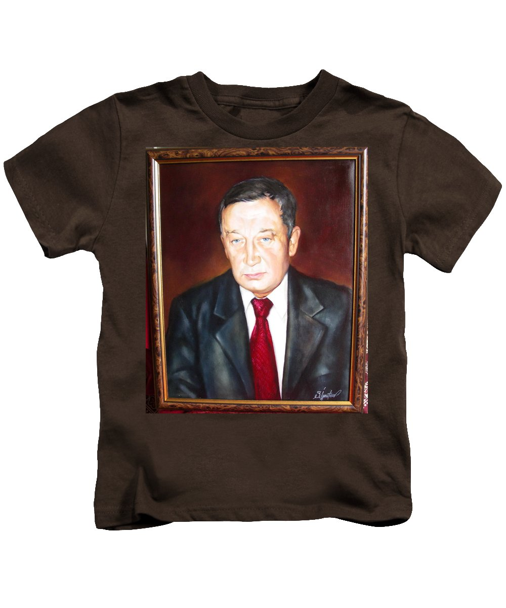 Art Kids T-Shirt featuring the painting Man 1 by Sergey Ignatenko