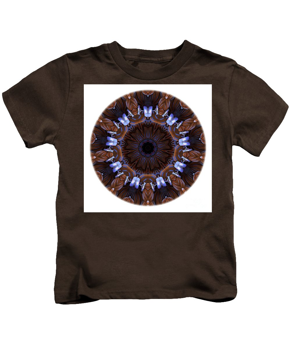 Talisman Kids T-Shirt featuring the digital art Mandala - Talisman 1436 by Marek Lutek