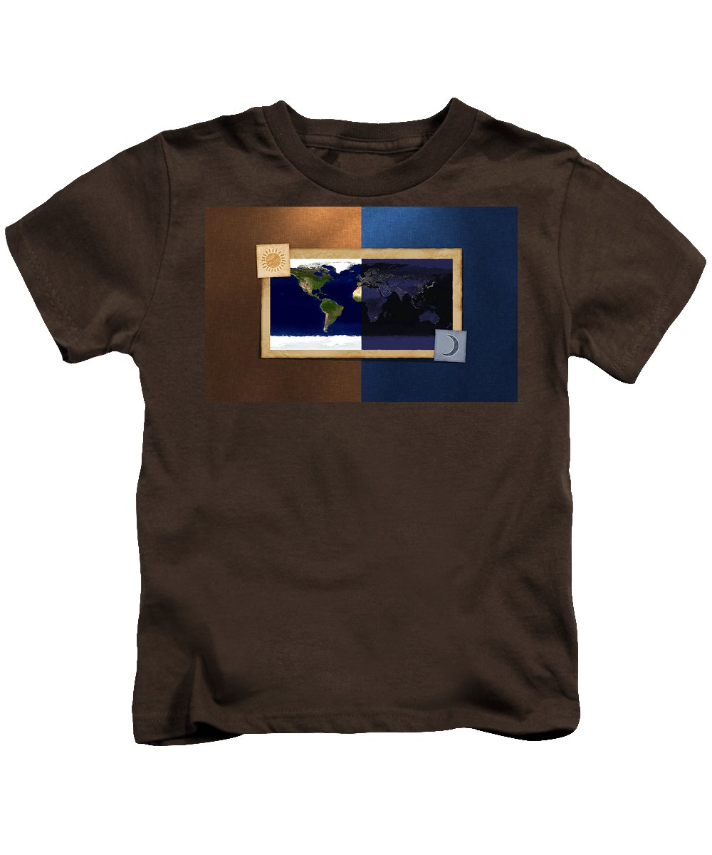 Map Kids T-Shirt featuring the digital art Map by Dorothy Binder