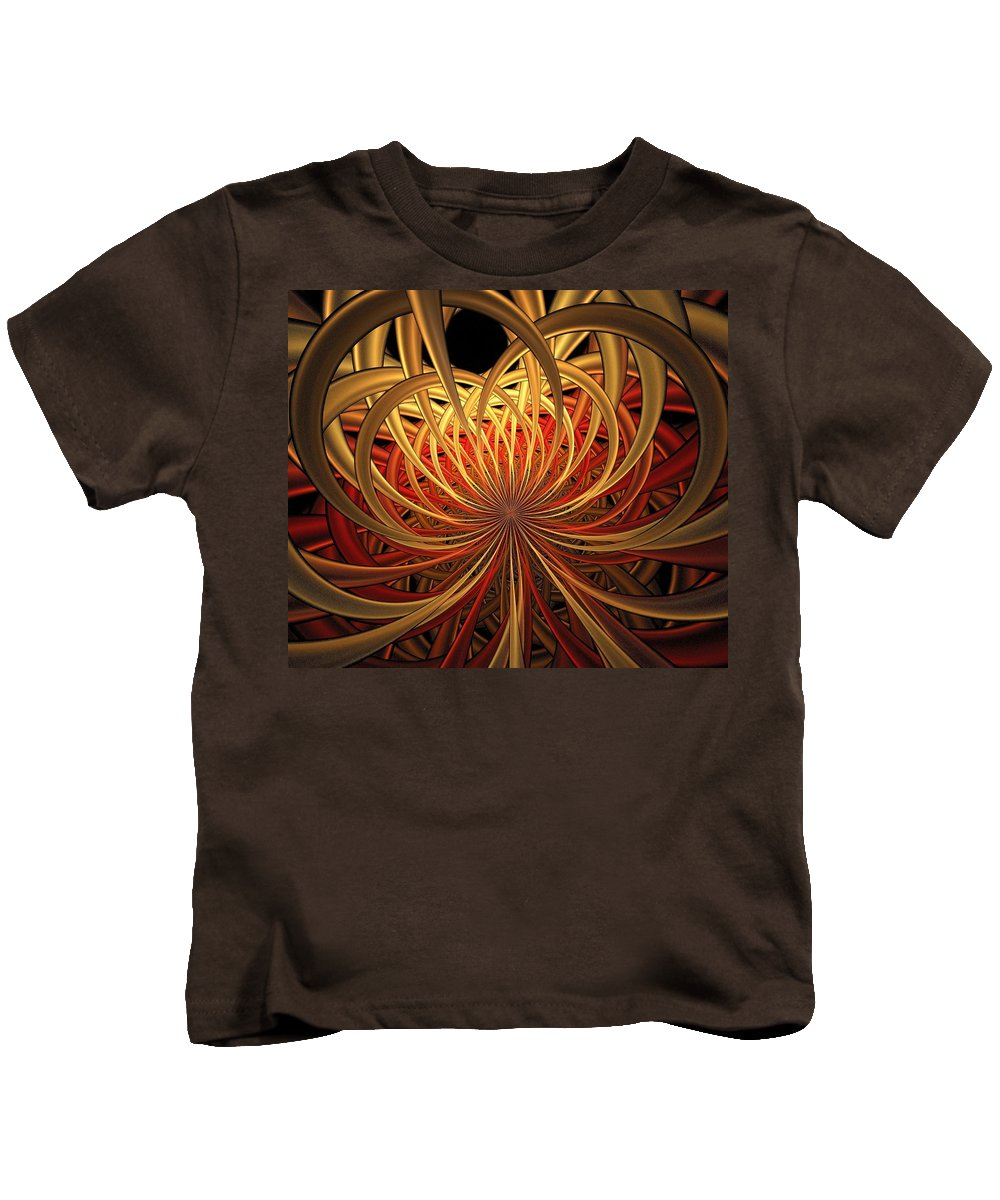 Digital Art Kids T-Shirt featuring the digital art Marigold by Amanda Moore