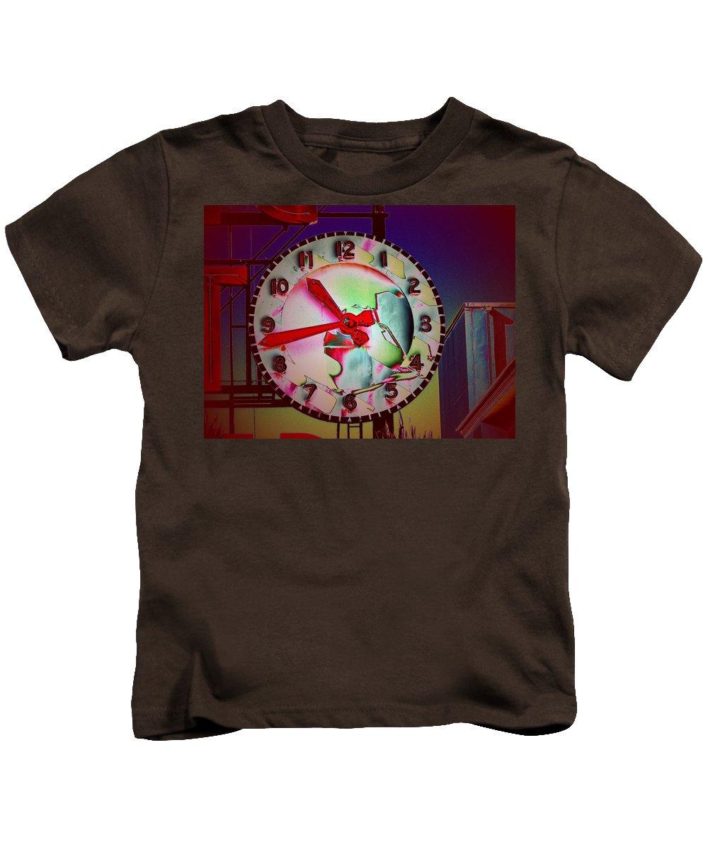 Seattle Kids T-Shirt featuring the digital art Market Clock 3 by Tim Allen