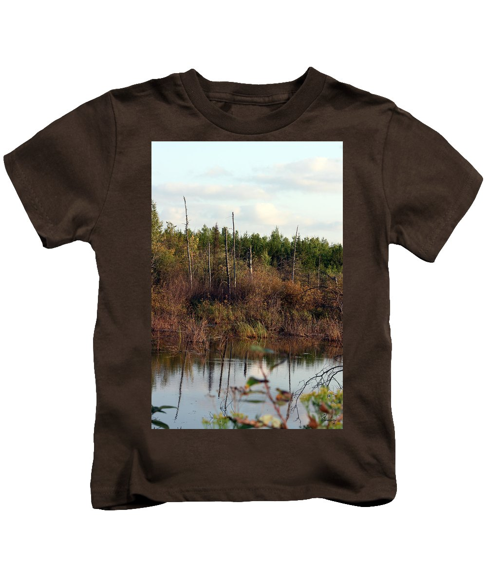Marsh Lake Water Aquatic Wild Natural Mother Nature Pond Kids T-Shirt featuring the photograph Marsh by Andrea Lawrence